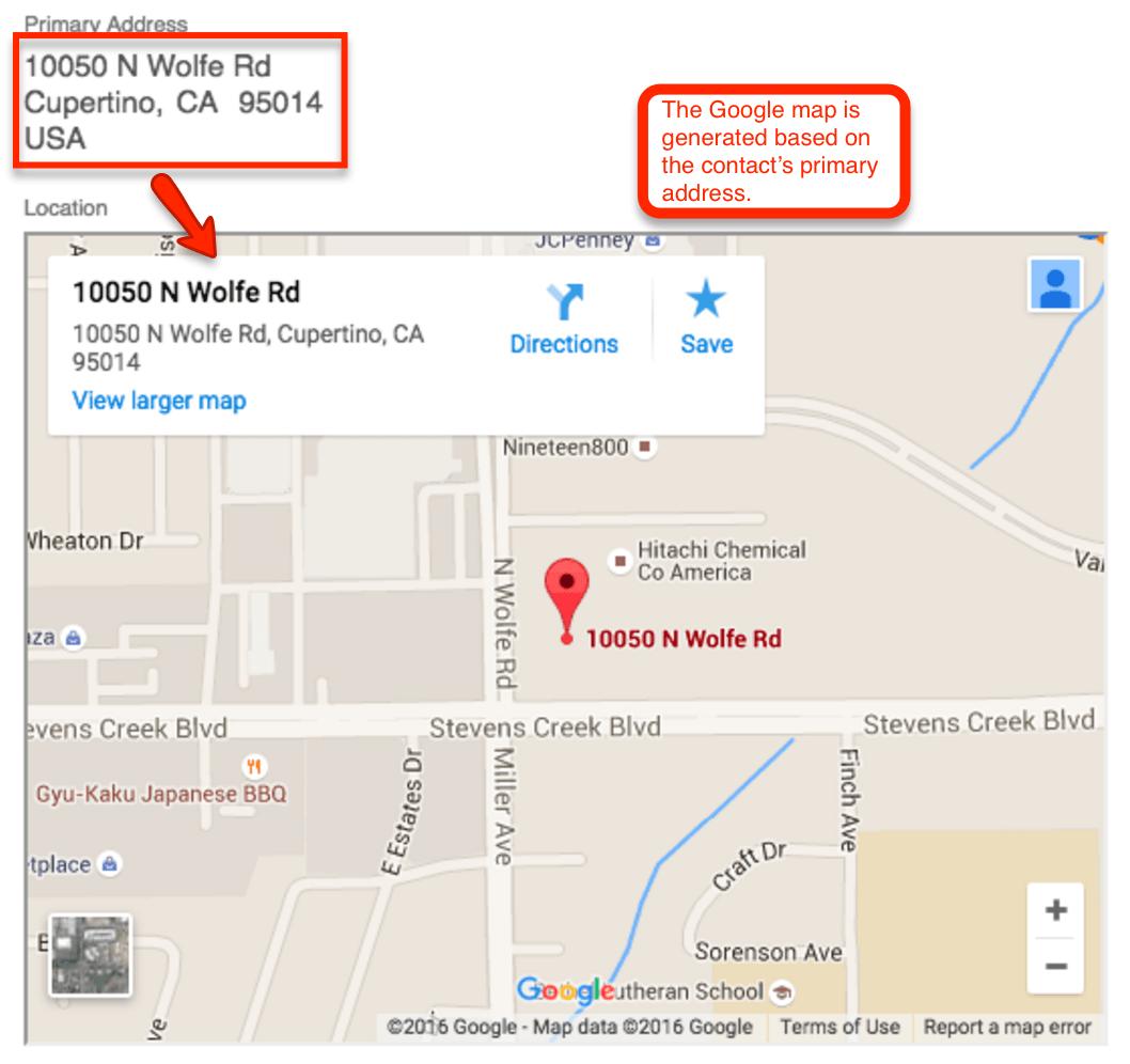 LocationResults ContactRecord