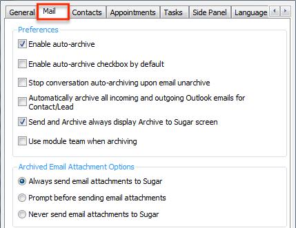 SugarcrmSettings MailTab