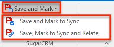 SyncingNewRecord CreateCall SaveAndMarkOption