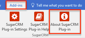 关于SugarCRMPlugIn的加载项