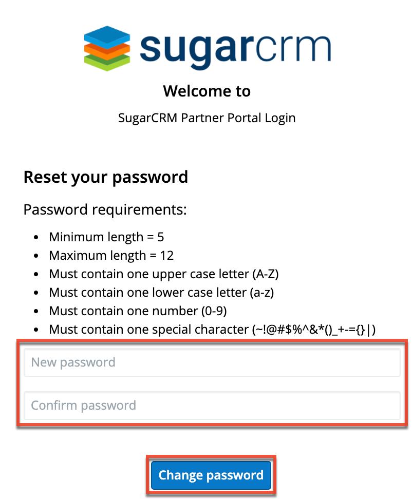 更改用户密码重置您的密码屏幕