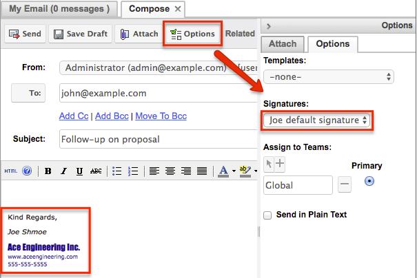 Emails DefaultSignature