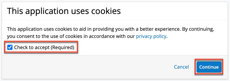 Cookie同意提示