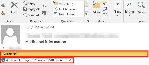 存档电子邮件存档的EmailMessageView 2013